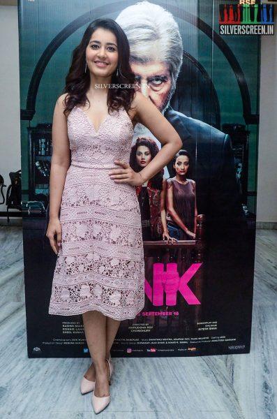 Rakul Preet Singh and Raashi Khanna at Pink Movie Premiere