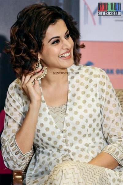 Taapsee Pannu at the Press Meet of Pink