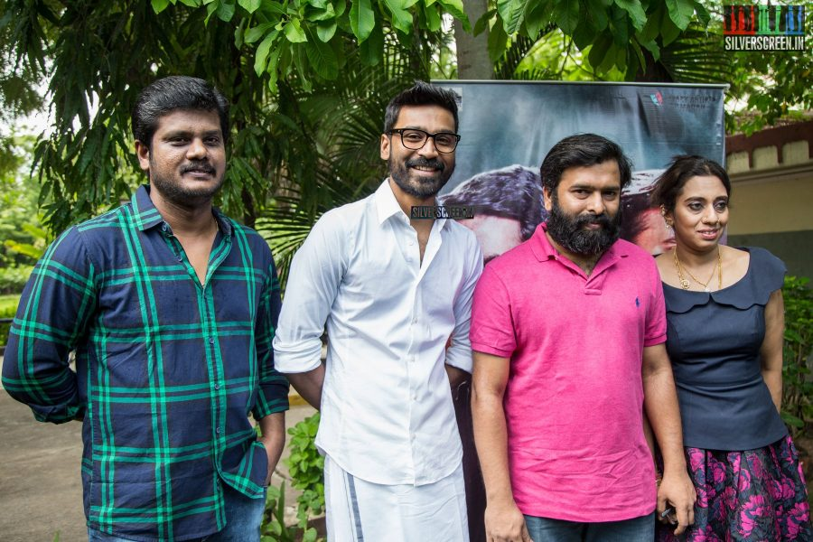 Once everything was fixed to Santhosh's satisfaction, he graciously allowed his wife Meenakshi, actor Dhanush and director Durai Senthilkumar to join him