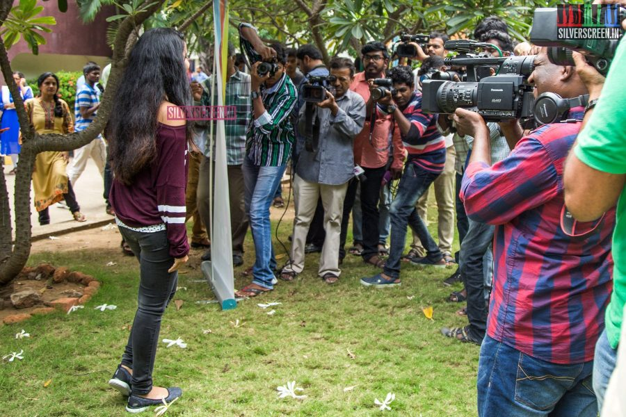 Anupama Parameswaran, in a chic t-shirt, whipped the photographers into a frenzy