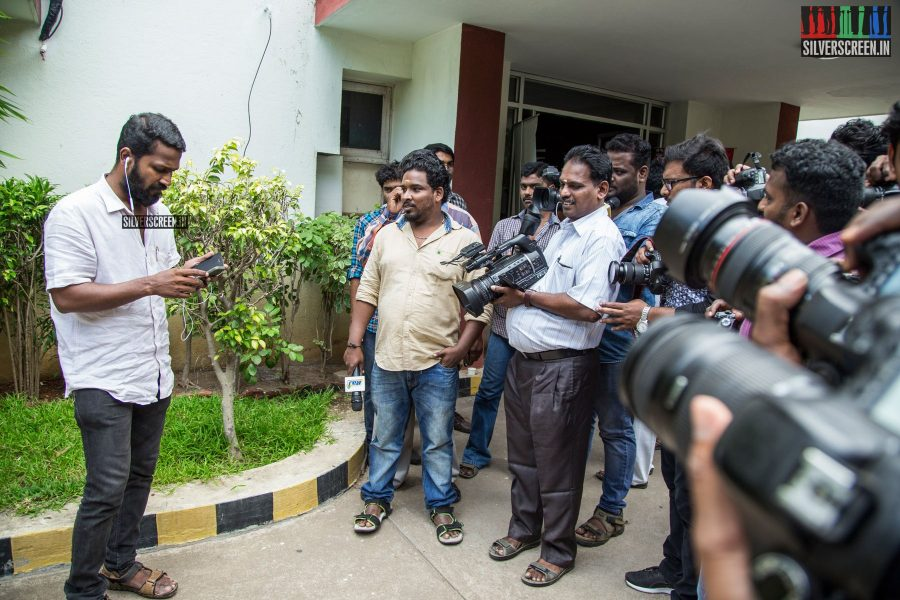 Producer Vetrimaaran is a busy man these days. He took time out for a phone call, before gracing the photographers with a smile