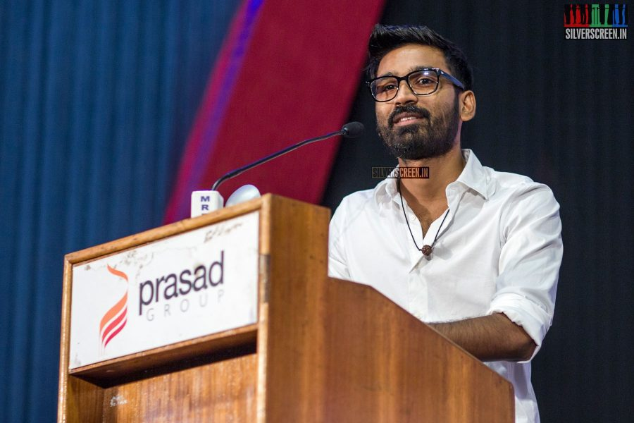"""""""Everyone who has worked in this film has known each other for close to 12 years now, and I am happy that everyone has reached a great level in their careers,"""" said Dhanush"""