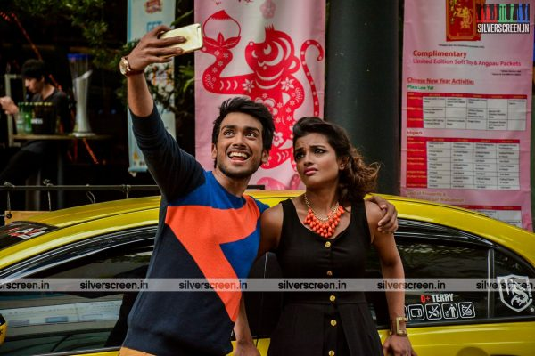 Ashna Zaveri and Kalidas in Meen Kuzhambum Mann Paanaiyum Movie Stills