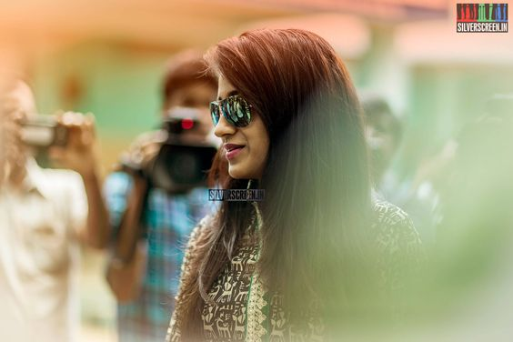 Trisha Krishnan, one of the claimants to the title Lady Superstar