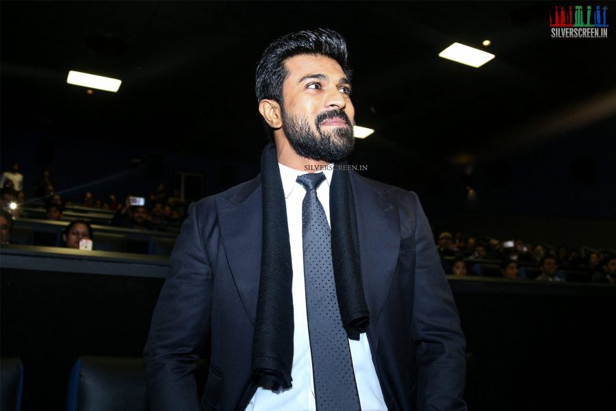 Ram Charan and Aravind Swami At the Dhruva Premiere in New Jersey