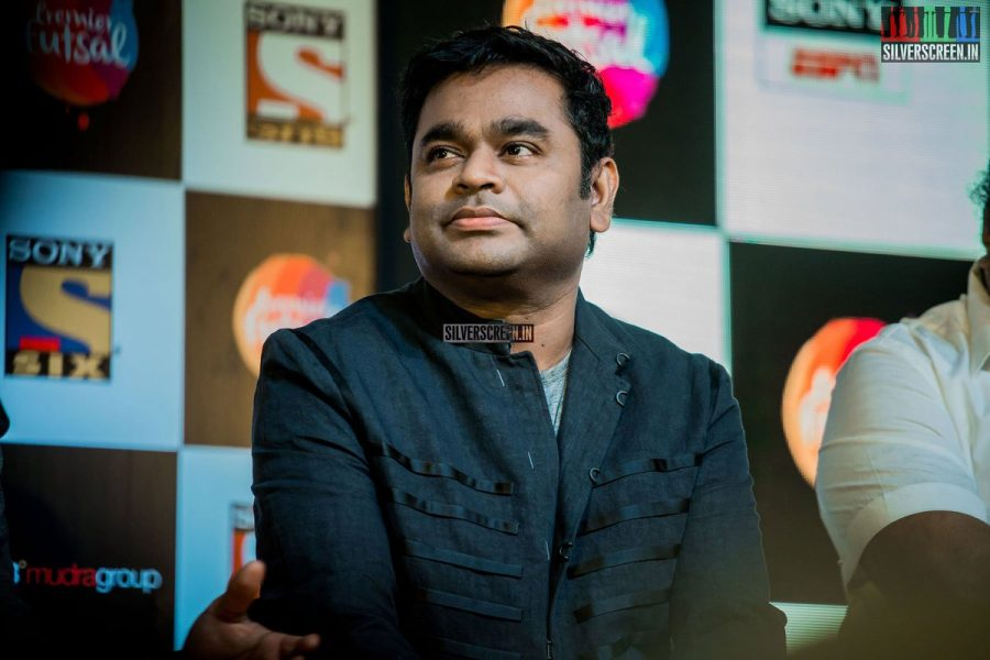 A photo of AR Rahman, not from a Horror Movie.