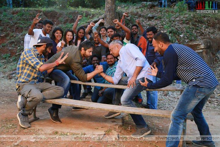 Gautham Menon and Vikram in Dhruva Natchathiram Movie Stills
