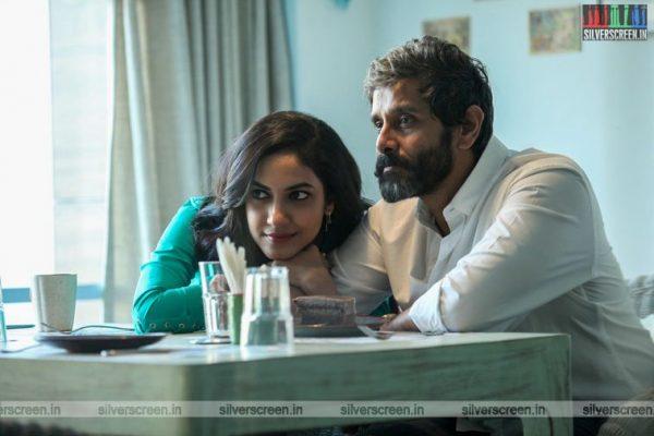 Vikram and Anu Emmanuel in Dhruva Natchathiram Movie Stills