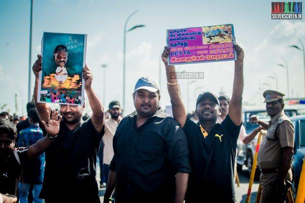 Jallikattu protesters at the Marina Beach