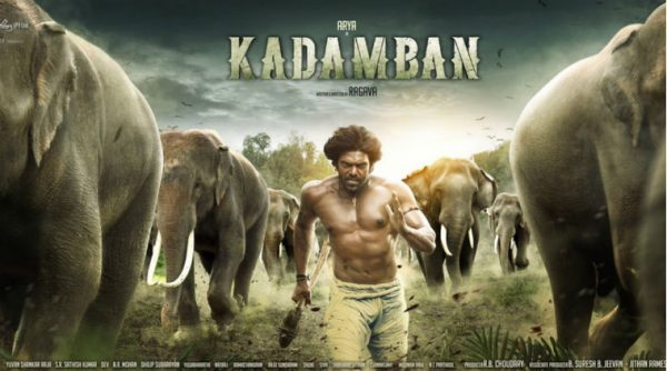 Kadamban has an April 14 release. Film stars Arya and Catherine Tresa