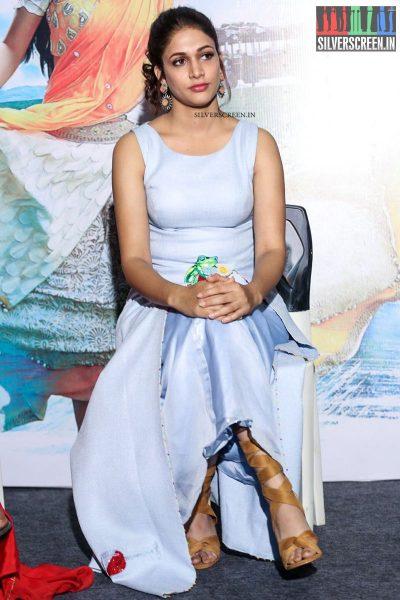 Lavanya Tripathi And Hebah Patel At Mister's Trailer Launch