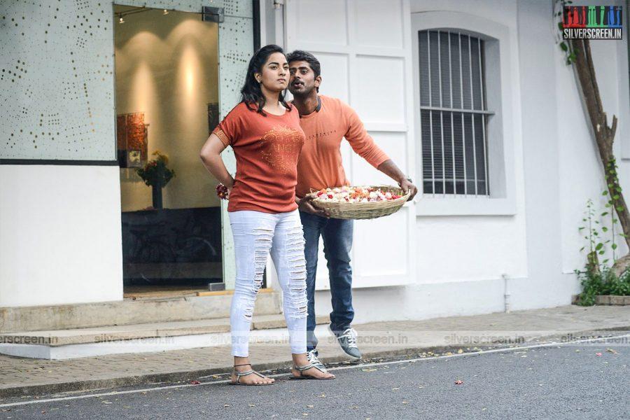 Chathru Movie Stills Starring Kathir and Srushti Dange