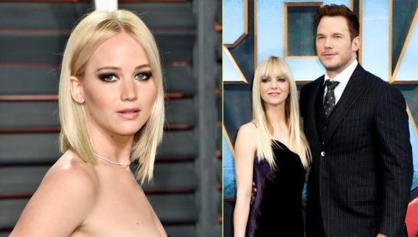 Chris Pratt Anna Faris Jennifer Lawrence