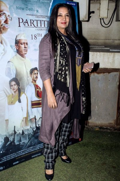 Shabana Azmi at Partition - 1947 Movie Premiere