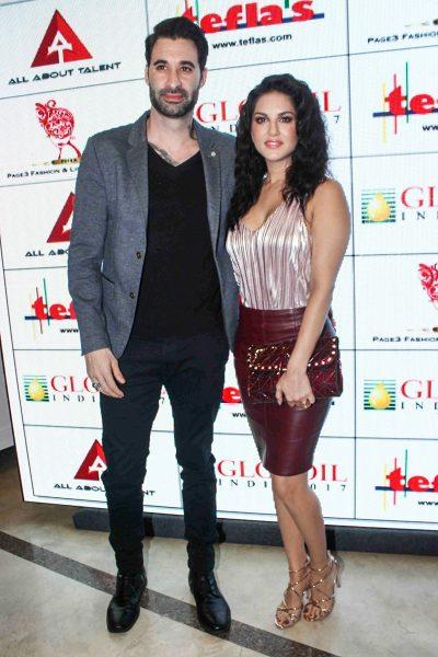 Mumbai: Actress Sunny Leone along with her husband Daniel Weber