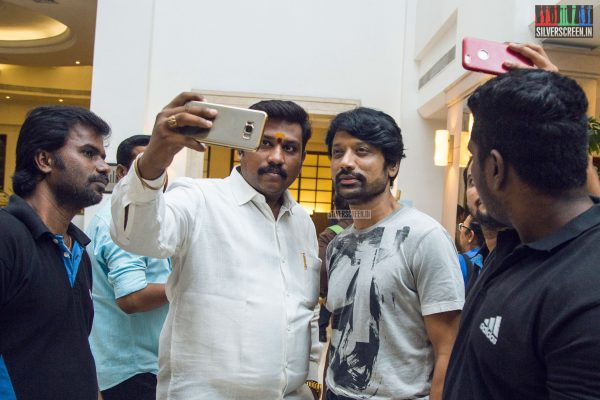 There was a clamour to take selfies with the glorious villain of 'Spyder' – SJ Suryah, reports our photographer. Pic Dani Charles