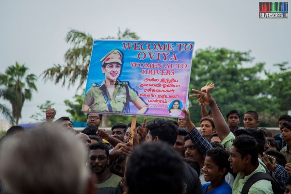A sample of Oviya's fan base. Pic: Sriram Narasimhan