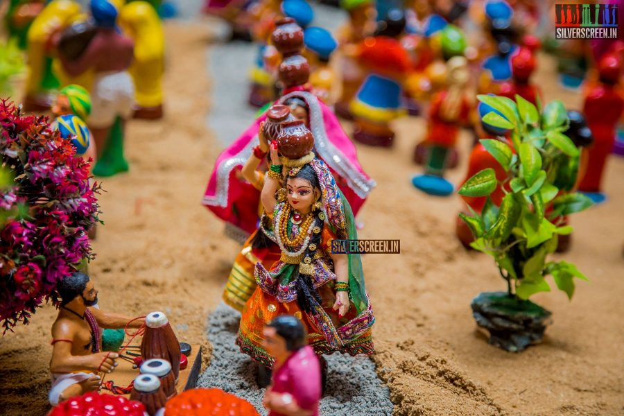 As is the case every Navaratri, the Kalpathi House was in a celebratory mood this week. With a grand kolu on display, the theme this year was 'rath yathra'. We loved these miniature gopikas. Pic: Sriram Narasimhan