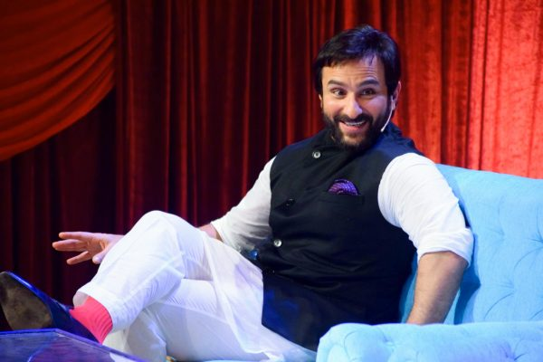 "Mumbai: Actor Saif Ali Khan during promotion of his upcoming film ""Chef"" on the sets of television Show ""The Drama Company"" in Mumbai. (Photo: IANS)"