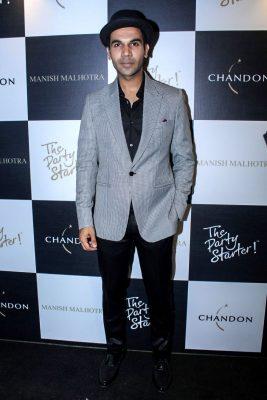 Mumbai: Actor Rajkummar Rao during the launch of Manish Malhotra X Chandon Champagne bottles Limited Edition End Of Year 2017 in Mumbai on Oct 9, 2017.(Photo: IANS)