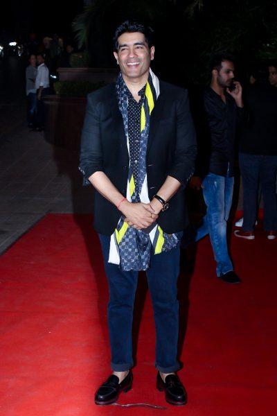 Mumbai: Fashion Designer Manish Malhotra at the red carpet of Halloween Party in Mumbai on Oct 27, 2017 .(Photo: IANS)