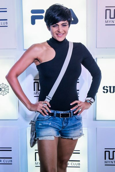Mumbai: Actress Mandira Bedi during a programme in Mumbai on Oct 27, 2017.(Photo: IANS)