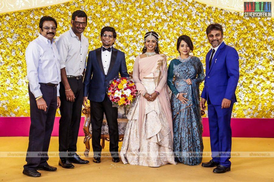 Celebrities at Kamala Theatre Owner Nagu Chidambaram's Son Surya Chidambaram and Meenu Lakshmanan Wedding Reception