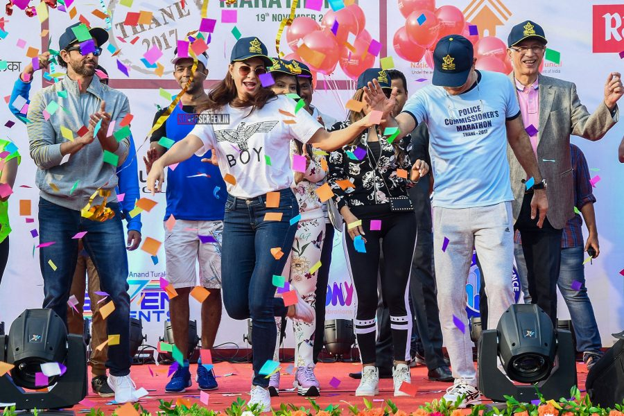 Celebs At A Marathon Organised By Thane Police