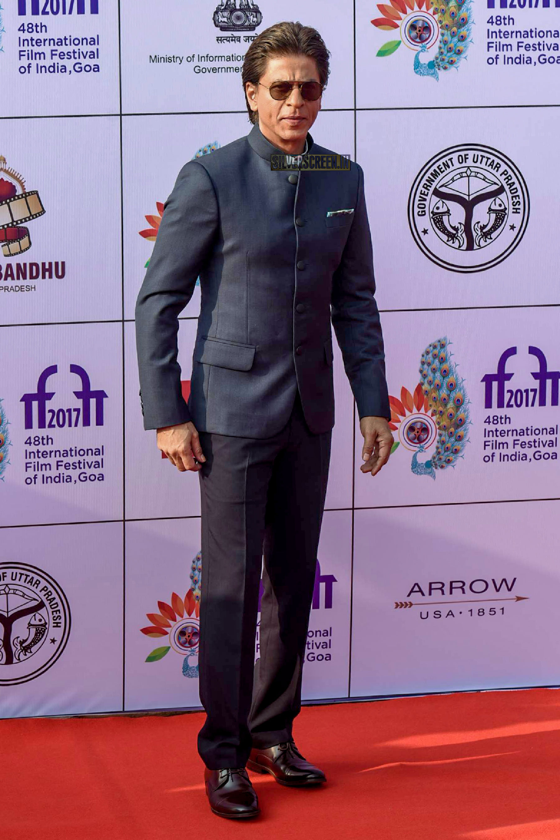 Shah Rukh Khan on the first day of International Film Festival of India (IFFI) in Goa.