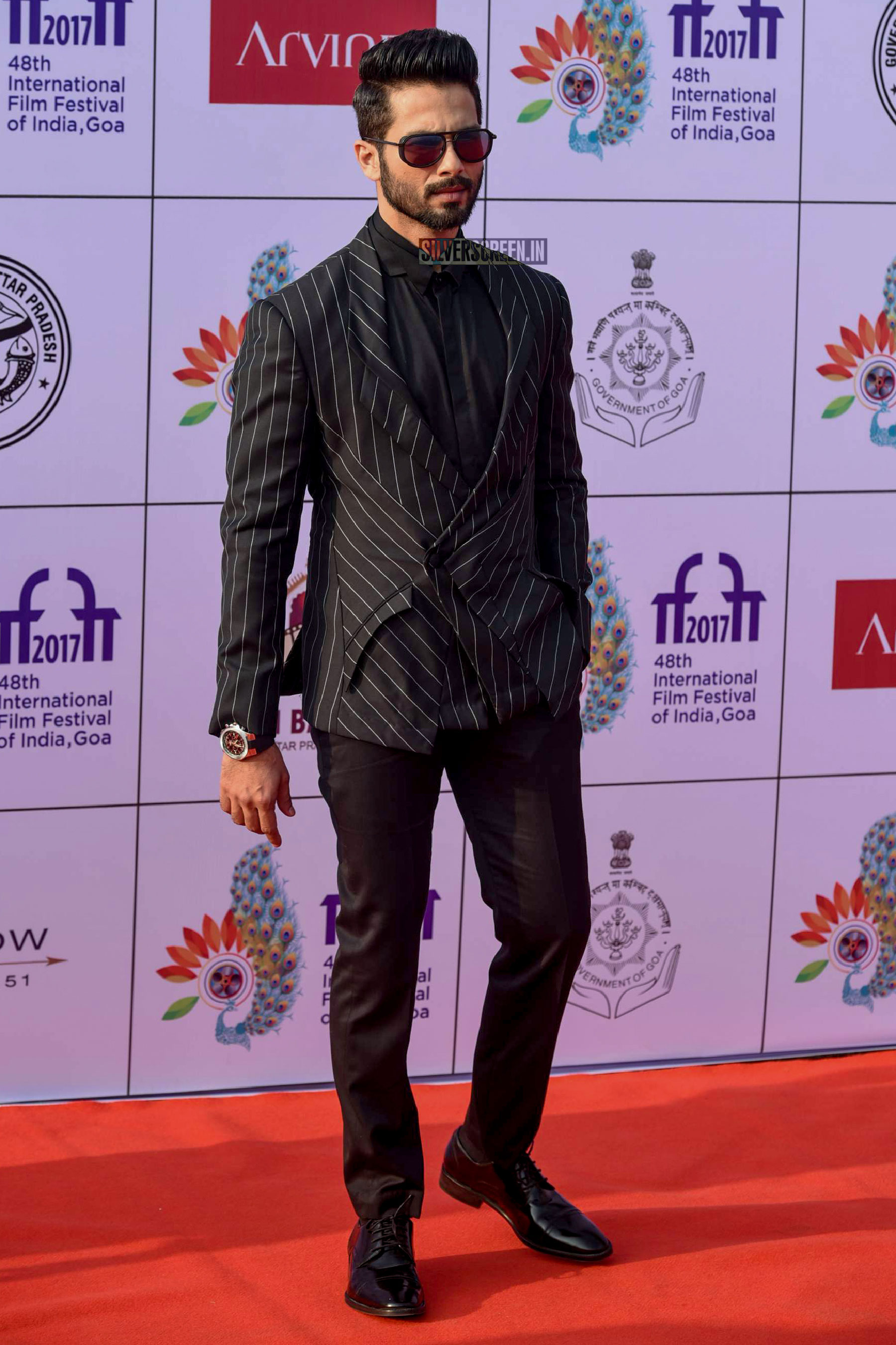 Shahid Kapoor on the first day of International Film Festival of India (IFFI) in Goa.