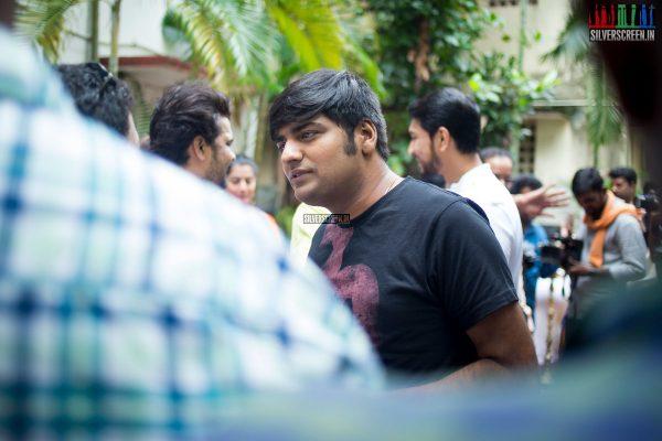 Sathish at the Mr. Chandramouli Movie Launch
