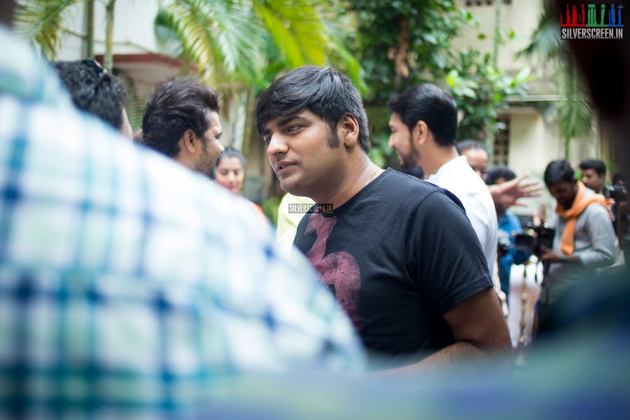Sathish at the Mr. Chandramouli Movie Launch