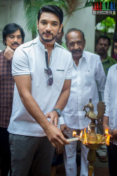 Gautham Karthik at the Mr. Chandramouli Movie Launch