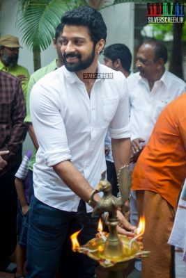 Santhosh at the Mr. Chandramouli Movie Launch