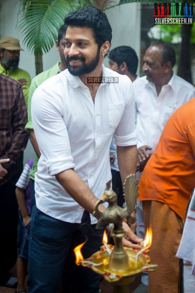 Santhosh at the Mr. Chandramouli Movie Launch