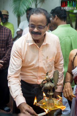 G Dhananjayan at the Mr. Chandramouli Movie Launch
