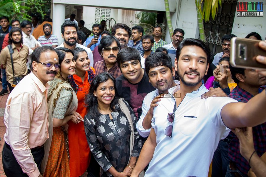 Karthik Muthuraman, Gautham Kathik, Regina Cassandra and Others at the Mr. Chandramouli Movie Launch