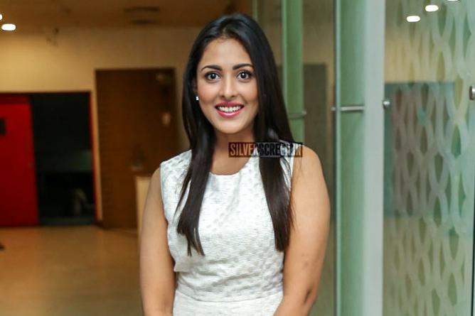 Madhu Shalini at London Babulu Movie Premiere