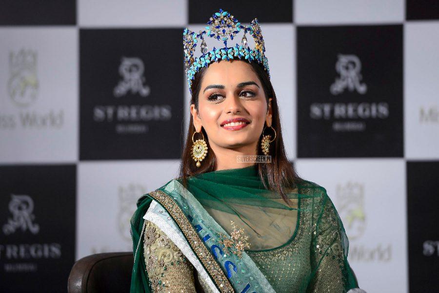 Miss World Manushi Chhillar at a Press Conference