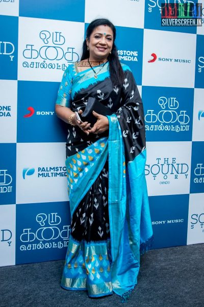 Poornima Bhagyaraj at Oru Kadhai Sollattumaa Audio Launch