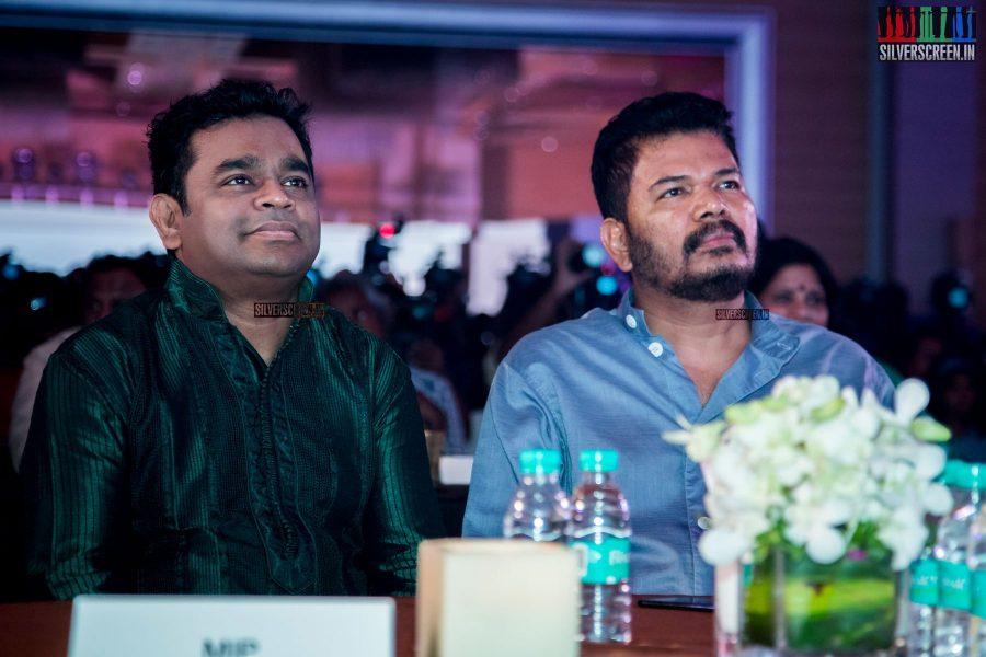 AR Rahman and Shankar at Oru Kadhai Sollattumaa Audio Launch