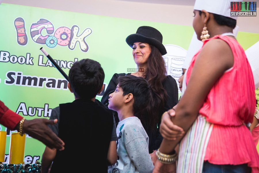 Actress Simran was at the launch of the I COOK book by Shree Periakaruppan in Chennai recently