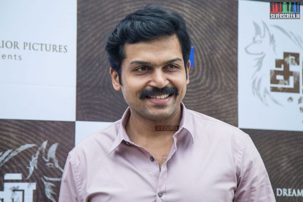 Karthi at Theeran Adhigaaram Ondru Press Meet