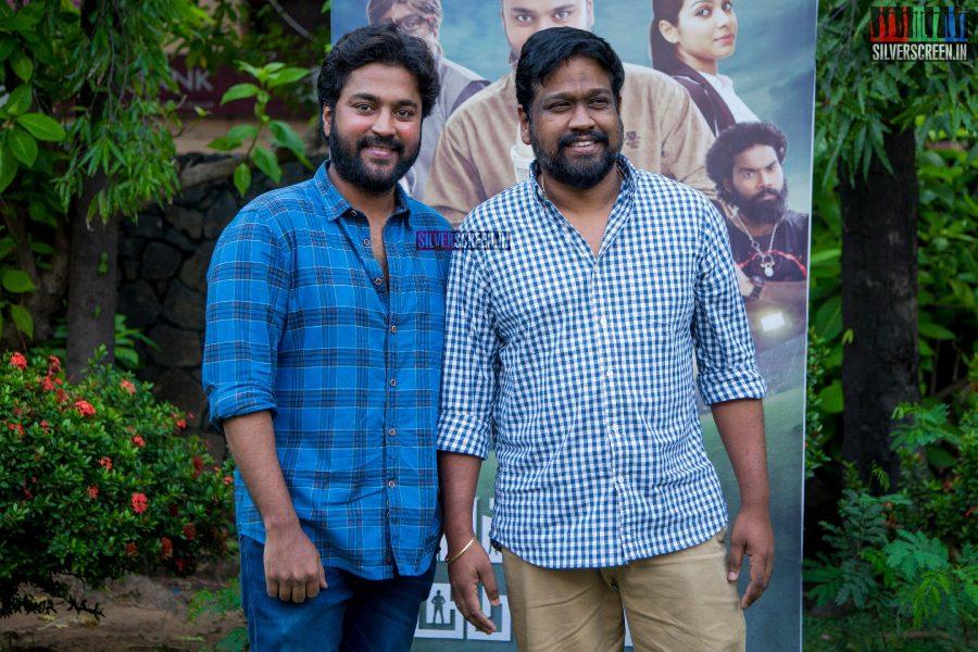 Chandran and M Rajesh at the Thittam Poattu Thirudra Kootam Audio Launch