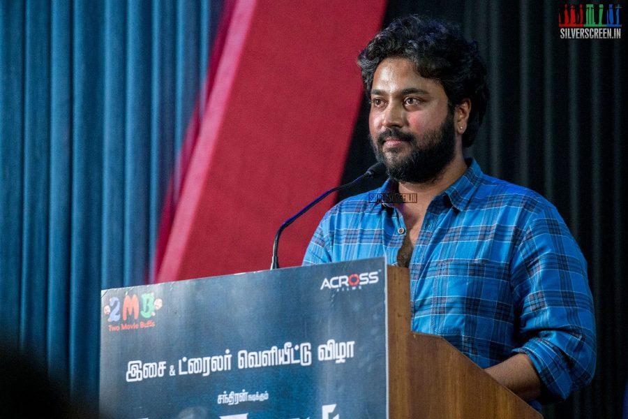 Chandran at the Thittam Poattu Thirudra Kootam Audio Launch