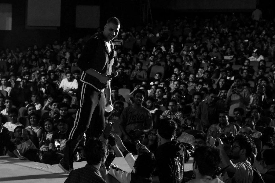 Akshay Kumar, Arunachalam Muruganantham During The Promotions Of PadMan