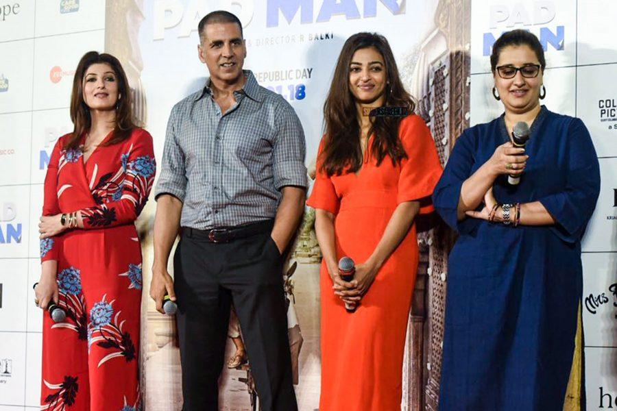 Akshay Kumar, Radhika Apte, Twinkle Khanna At The Release Of Padman Song 'Aaj Se Teri'