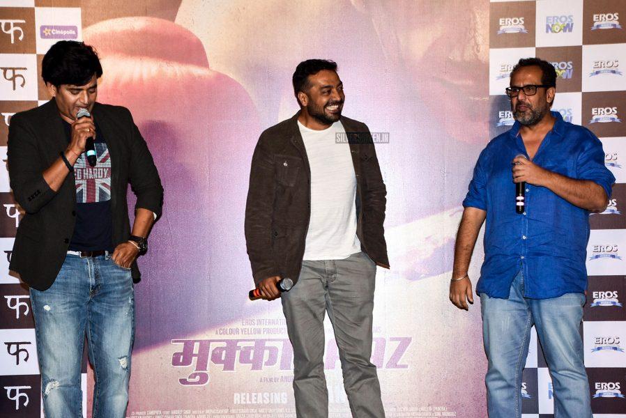 Anurag Kashyap, Vineet Kumar, Ravi Kishan & Others During The Promotions Of Mukkabaaz