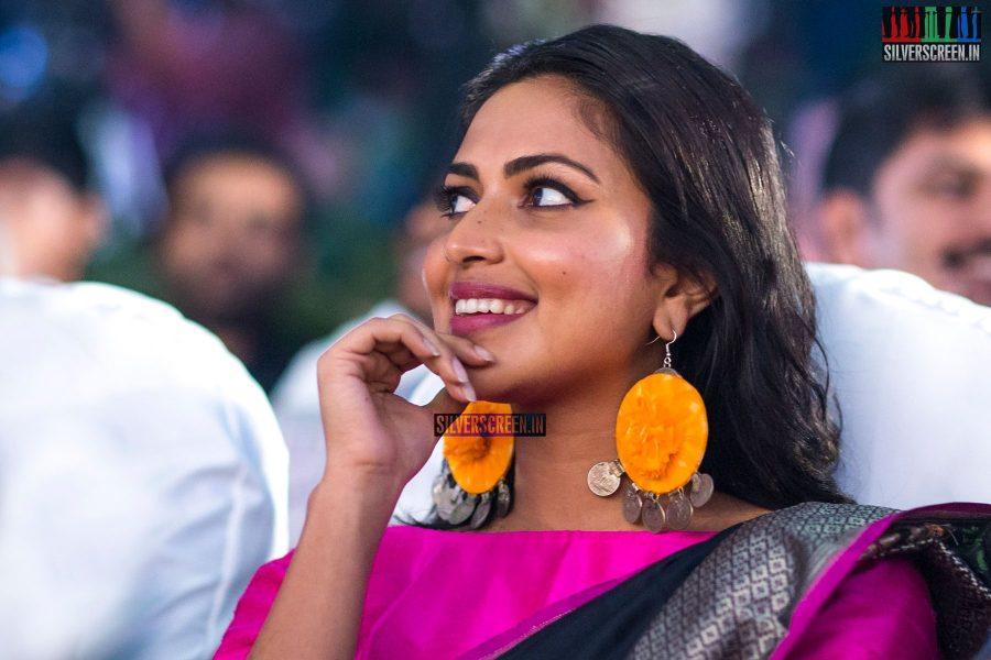 Amala Paul At The Bhaskar Oru Rascal Audio Launch
