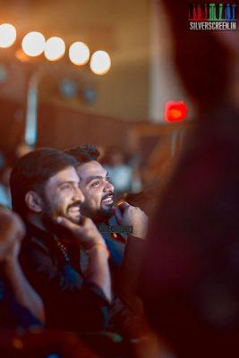 N Santhanama and Simbu at the Sakka Podu Podu Raja Audio Launch